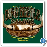 Dung Beetle Saloon Banner 4x14