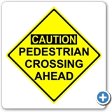 PED Crossing Sign 24x24